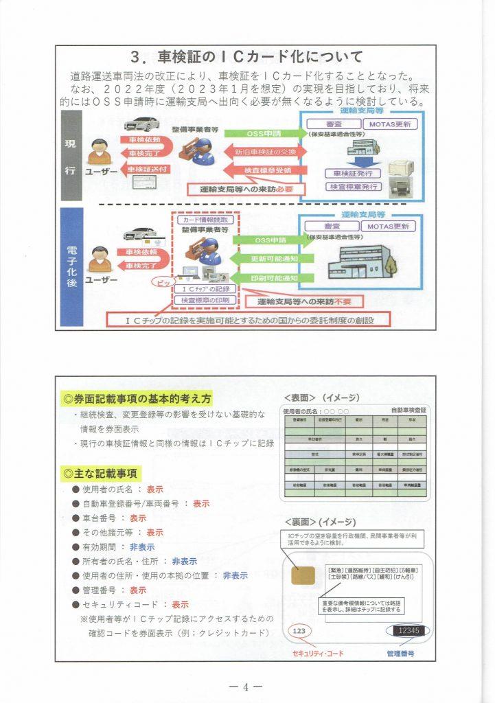 車検証のICカード化